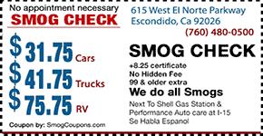 Dmv Smog Check >> Smog Check Smog Coupon Escondido Call 760 480 0500